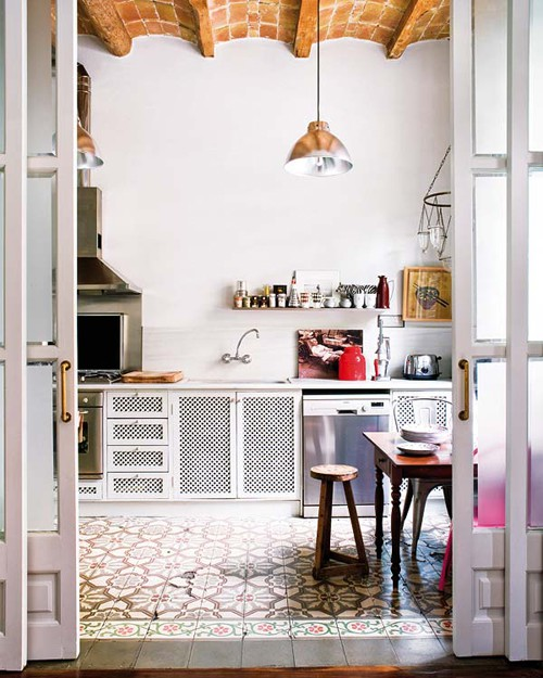 Old Kitchen Tile: The Bohemian Kitchen